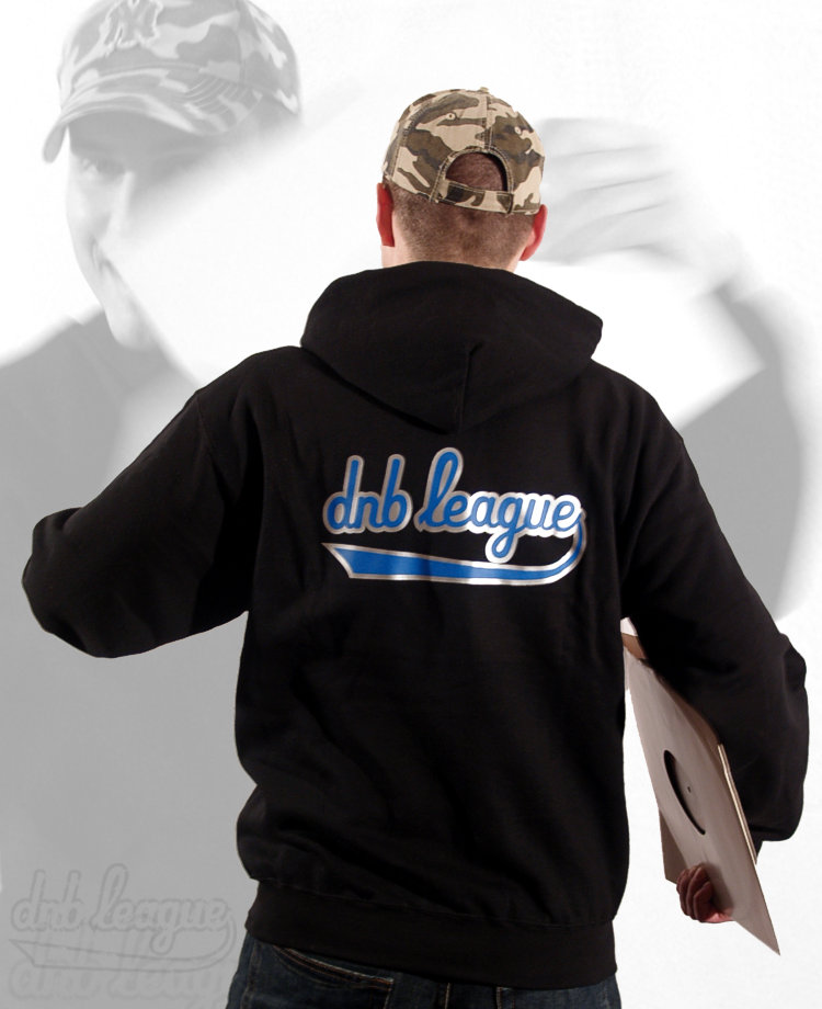 dnb league hooded sweatshirt - drum and bass clothing