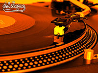orange wallpaper DNB league - turntable